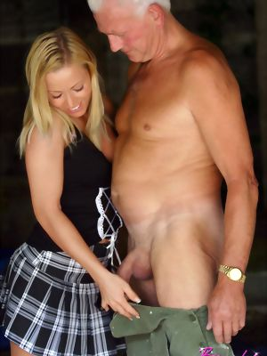 Perfect Blonde Hottie Fucked By An Older Man